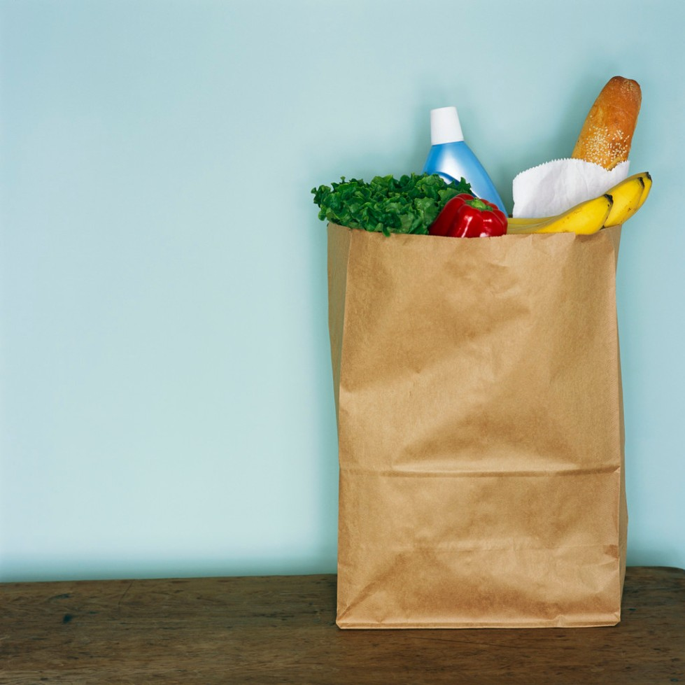 Groceries in Brown Paper Bag ca. 2002